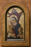 Pseudo-Pier Francesco Fiorentino: Gott der Vater segnet die Jungfrau und das Kind mit Johannes stockbilder