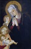 Pseudo-Pier Francesco Fiorentino: Jungfrau und Kind mit Johannes und dem Engel lizenzfreies stockbild