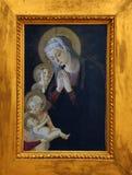 Pseudo-Pier Francesco Fiorentino: Jungfrau und Kind, von Johannes und von Engel stockbild