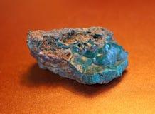 Pseudomalachite, pietra preziosa di Ehlite Fotografia Stock