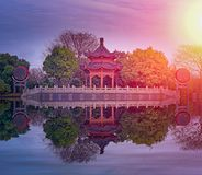 Badashanren home. Pseudonym of Zhu Da , a famous painter of the Ming Dynasty Royalty Free Stock Photos