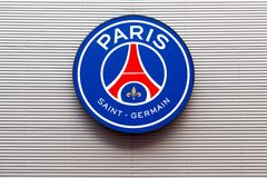 PSG logo on the wall