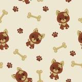 psi deseniowy bezszwowy Zdjęcie Royalty Free