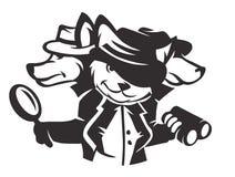 Psi detektywi royalty ilustracja