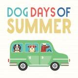 Psi dni lato ilustracji