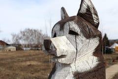 Psi drewno obrazy stock