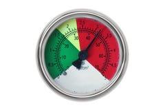 PSI gauge. Isolated PSI gauge on white background Stock Photo
