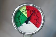 PSI gauge. Close-up of a PSI gauge stock photography
