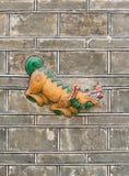 Psi kamienny cyzelowanie Fotografia Royalty Free