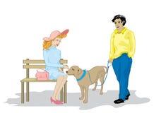 psi kochankowie royalty ilustracja