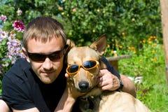 psi mężczyzna Obraz Royalty Free