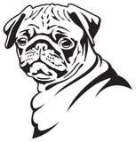 psi mops ilustracji