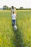 psi odprowadzenie Fotografia Royalty Free