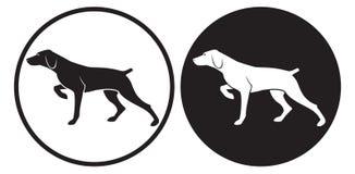 psi polowanie ilustracja wektor