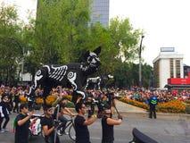 Psi ` s kościec w dniu śmiertelna parada obrazy royalty free