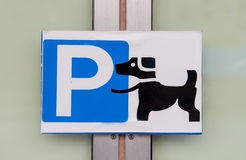 Psi ` s parking Zdjęcia Stock