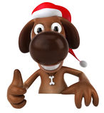psi Santa ilustracja wektor