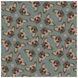 Psi wektorowy bezszwowy wzór Zdjęcie Royalty Free