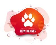 Psia łapa z sprzęgło szyldową ikoną Migdali symbol wektor ilustracji