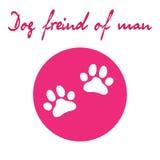 Psia łapy ikona pies Zdjęcie Royalty Free