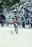 psia biegu kobieta zdjęcia stock