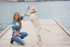 psia dziewczyna zdjęcie stock