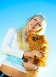 psia dziewczyna Zdjęcia Royalty Free