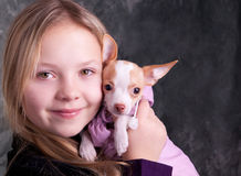 psia dziewczyna Obraz Stock