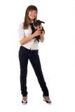 psia dziewczyna ona Obrazy Royalty Free