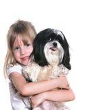psia dziewczyna ona Obraz Stock