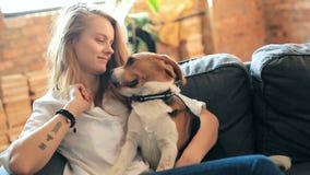 psia dziewczyna zdjęcie wideo