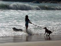 psia dziewczyno Zdjęcia Stock
