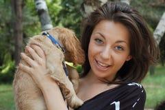 psia dziewczyno Obraz Royalty Free