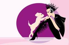 psia dziewczyno ilustracji