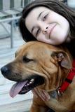 psia dziewczyno ją Zdjęcie Stock