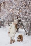 psia dziewczyno jej pet obrazy royalty free