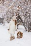 psia dziewczyno jej pet fotografia stock