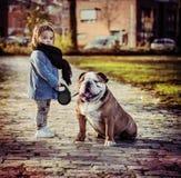 psia dziewczyno swoje młode Obraz Stock