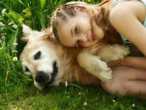 psia dziewczyno trochę Zdjęcia Royalty Free