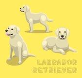 Psia Labrador Retriever kreskówki wektoru ilustracja ilustracja wektor