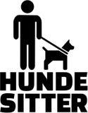 Psia opiekun ikona z niemieckim stanowiskiem royalty ilustracja
