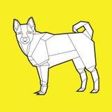 Psia poligonalna geometryczna ikona ilustracja wektor