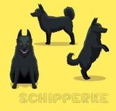 Psia Schipperke kreskówki wektoru ilustracja ilustracji