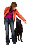 psia stażowa kobieta Fotografia Stock