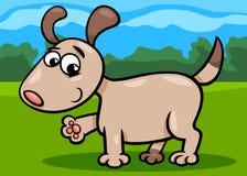 Psia szczeniak kreskówki ilustracja Fotografia Royalty Free