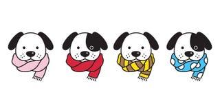 Psia wektorowa francuskiego buldoga szalika polki kropki lampasów szczeniaka głowy postaci z kreskówki logo ilustracja ilustracja wektor