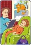 psicólogo ilustração royalty free
