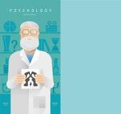 Psicólogo en vidrios stock de ilustración