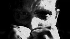 Psicópata de la esquizofrenia del trastorno mental y extracto de los desordenes de la salud mental almacen de metraje de vídeo