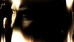 Psicópata de la esquizofrenia y extracto insanos locos de los desordenes de la salud mental almacen de metraje de vídeo